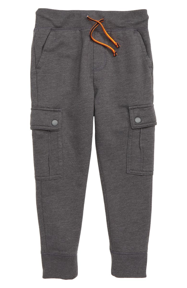 CREWCUTS BY J.CREW Fleece Cargo Sweatpants, Main, color, 020