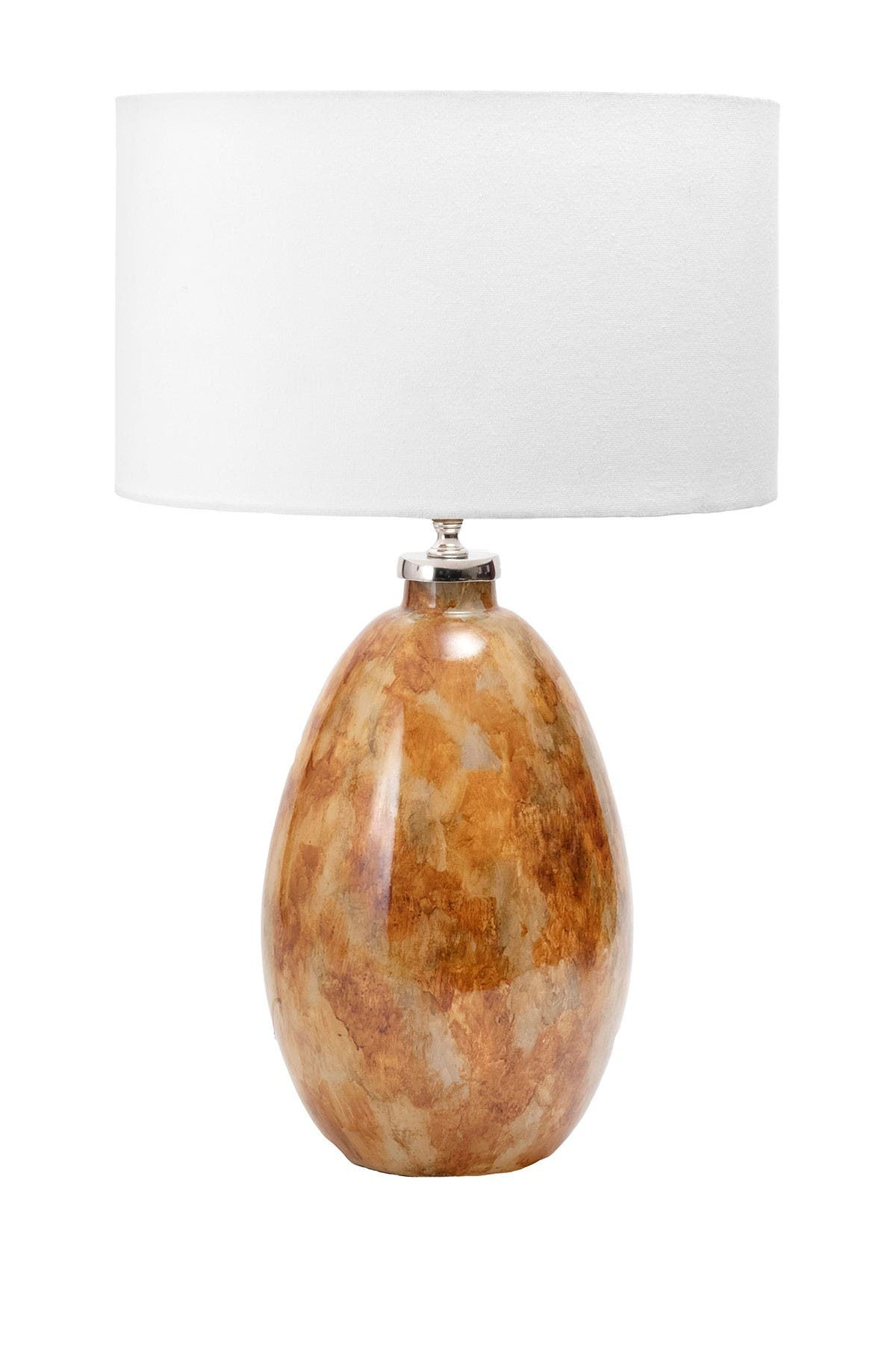 "Image of nuLOOM Amber Modern Teardrop 22"" Linen Shade Table Lamp"