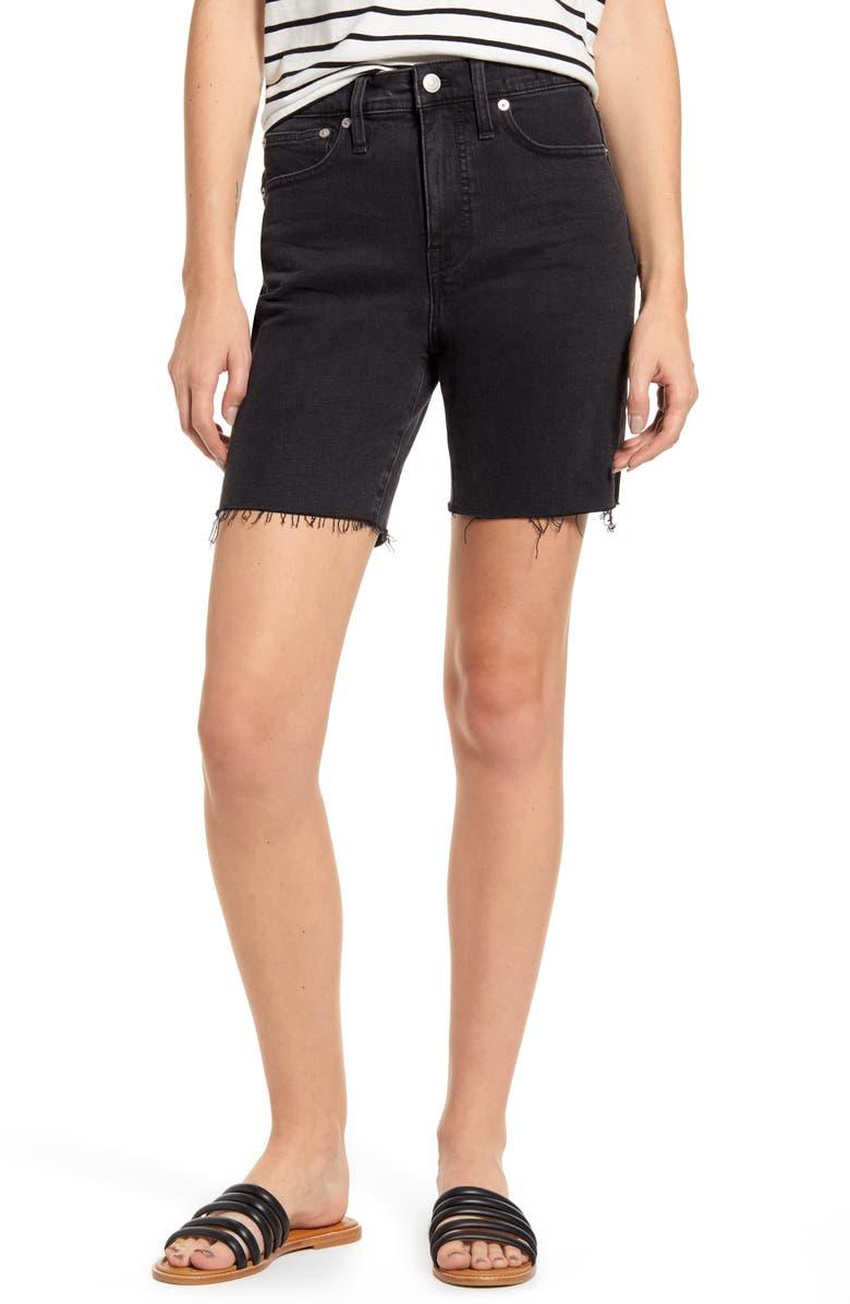 Madewell High Waist Mid Length Denim Shorts Lunar
