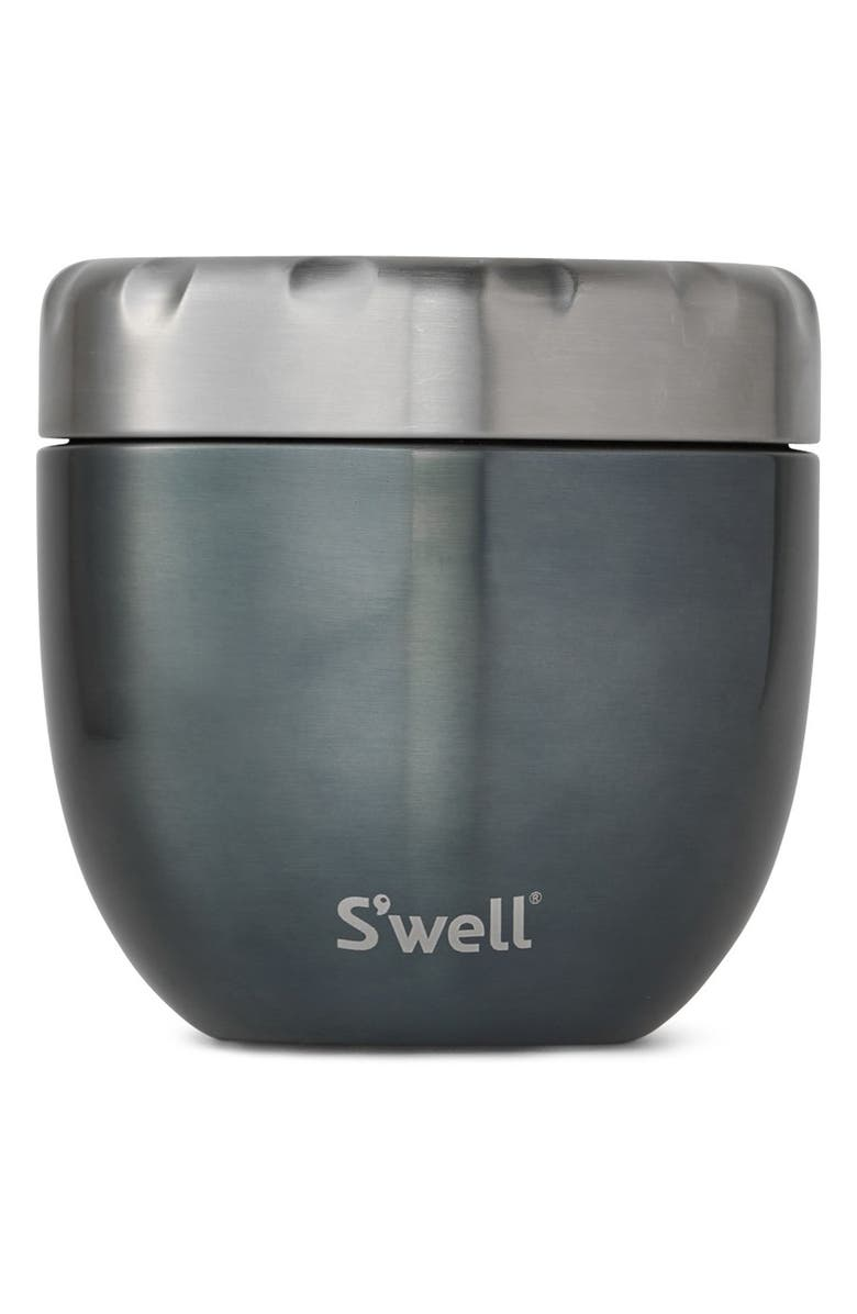 S'WELL Blue Suede Eats<sup>™</sup> Insulated Stainless Steel Bowl & Lid, Main, color, BLUE SUEDE