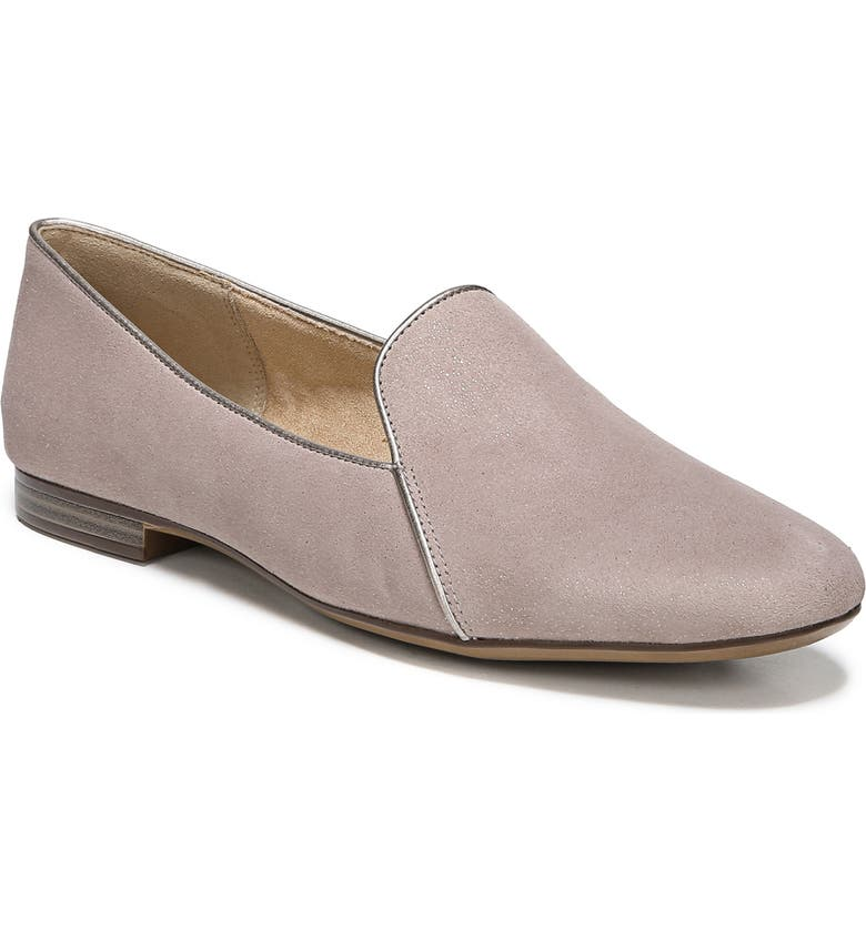 NATURALIZER Emiline 2 Loafer, Main, color, TAUPE GLITTER DUST SUEDE