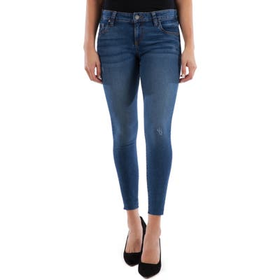 Kut From The Kloth Connie Raw Hem Ankle Skinny Jeans, Blue