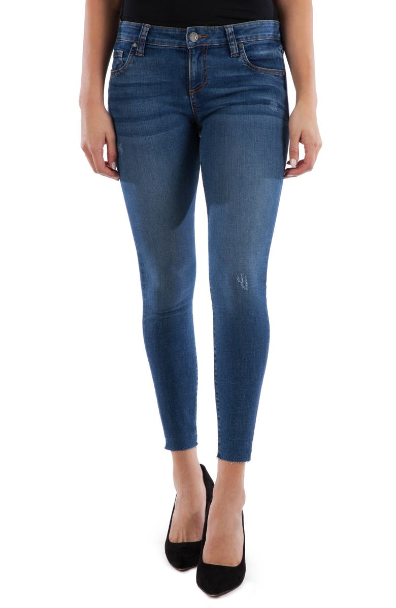 KUT FROM THE KLOTH Connie Raw Hem Ankle Skinny Jeans, Main, color, SEARCHING