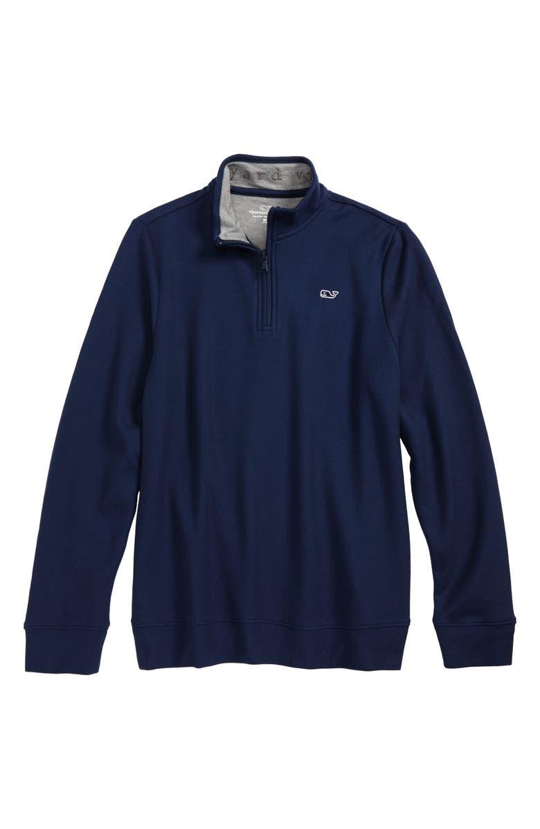 VINEYARD VINES Quarter Zip Pullover, Main, color, VINEYARD NAVY