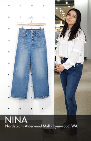 Slim Wide Leg Jeans, sales video thumbnail
