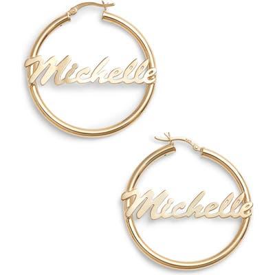 Argento Vivo Personalized Large Hoop Earrings