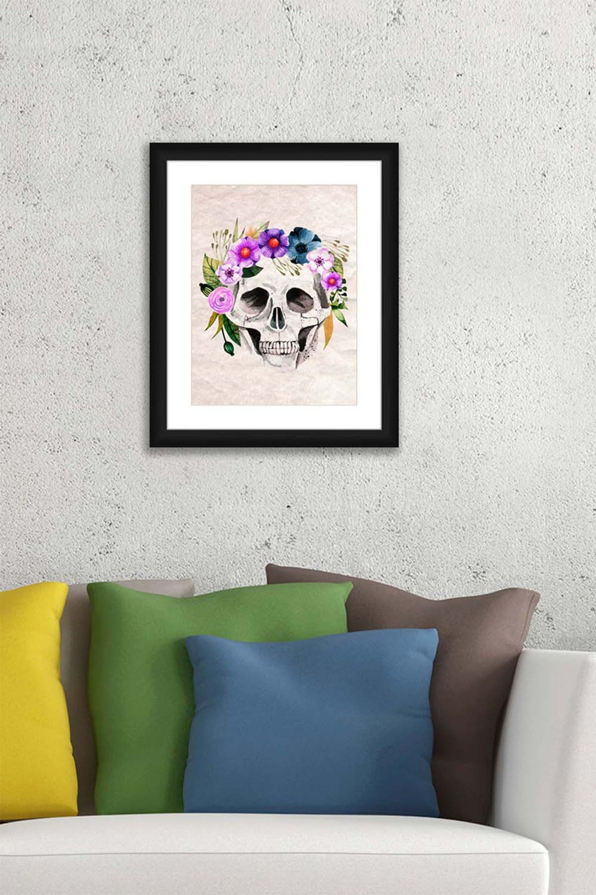 PTM Images Skeleton Crown Framed Matted Giclee Print