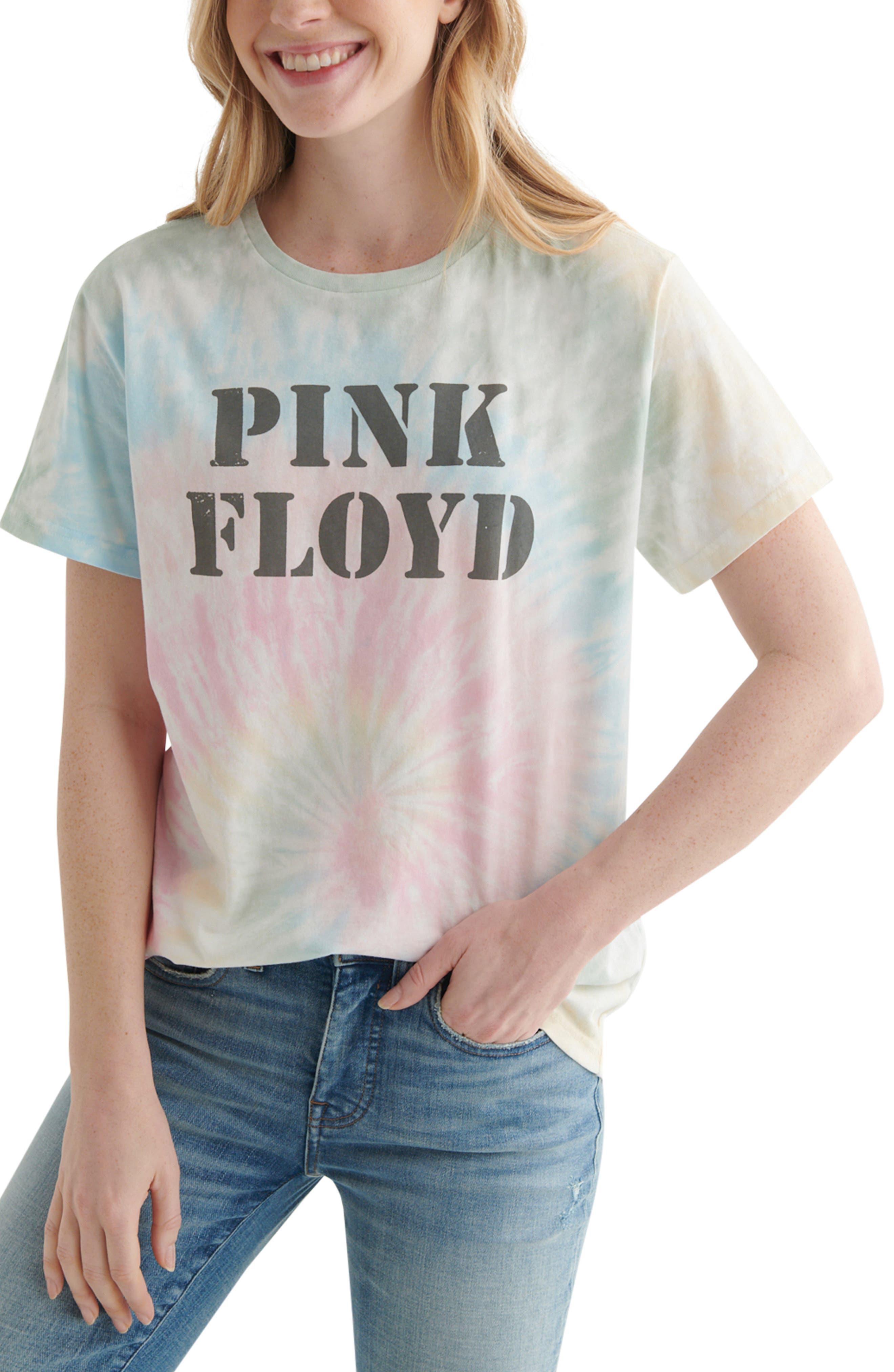 Pink Floyd Tie Dye Boyfriend Graphic Tee