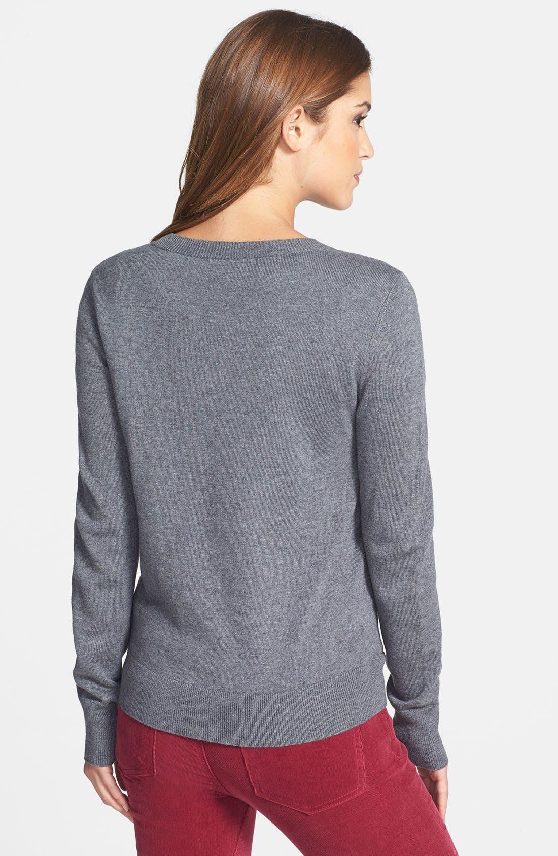 ,                             'Letterman' Sweater,                             Alternate thumbnail 3, color,                             020