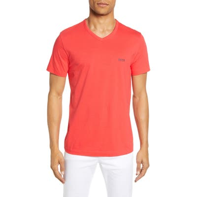 Boss Teevn Regular Fit V-Neck T-Shirt, Red