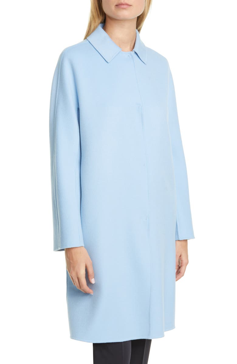 MAX MARA Capua Wool Blend Car Coat, Main, color, LIGHT BLUE