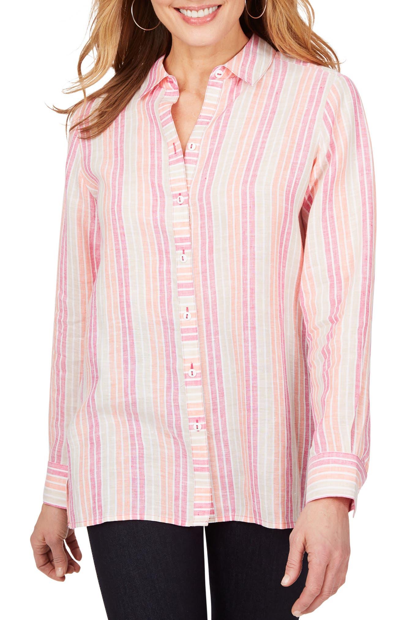 Journey Stripe Linen Chambray Shirt