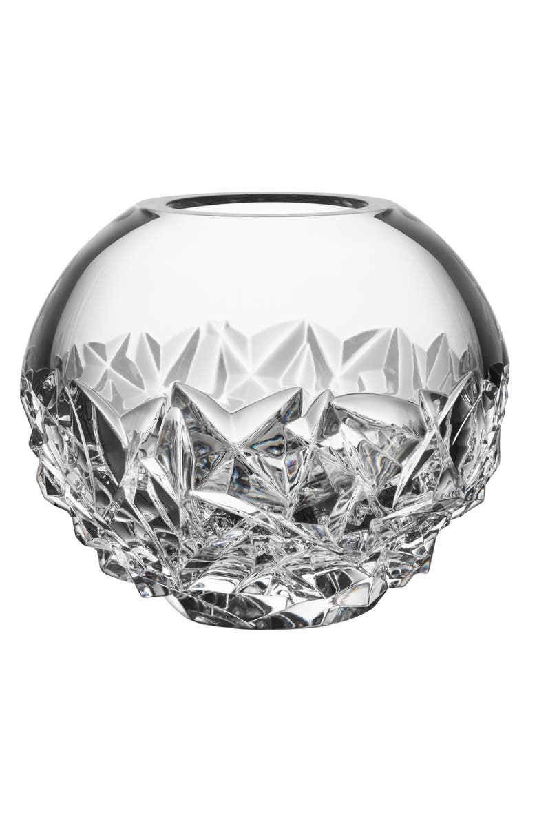 ORREFORS Carat Lead Crystal Globe Vase, Main, color, CLEAR - SMALL