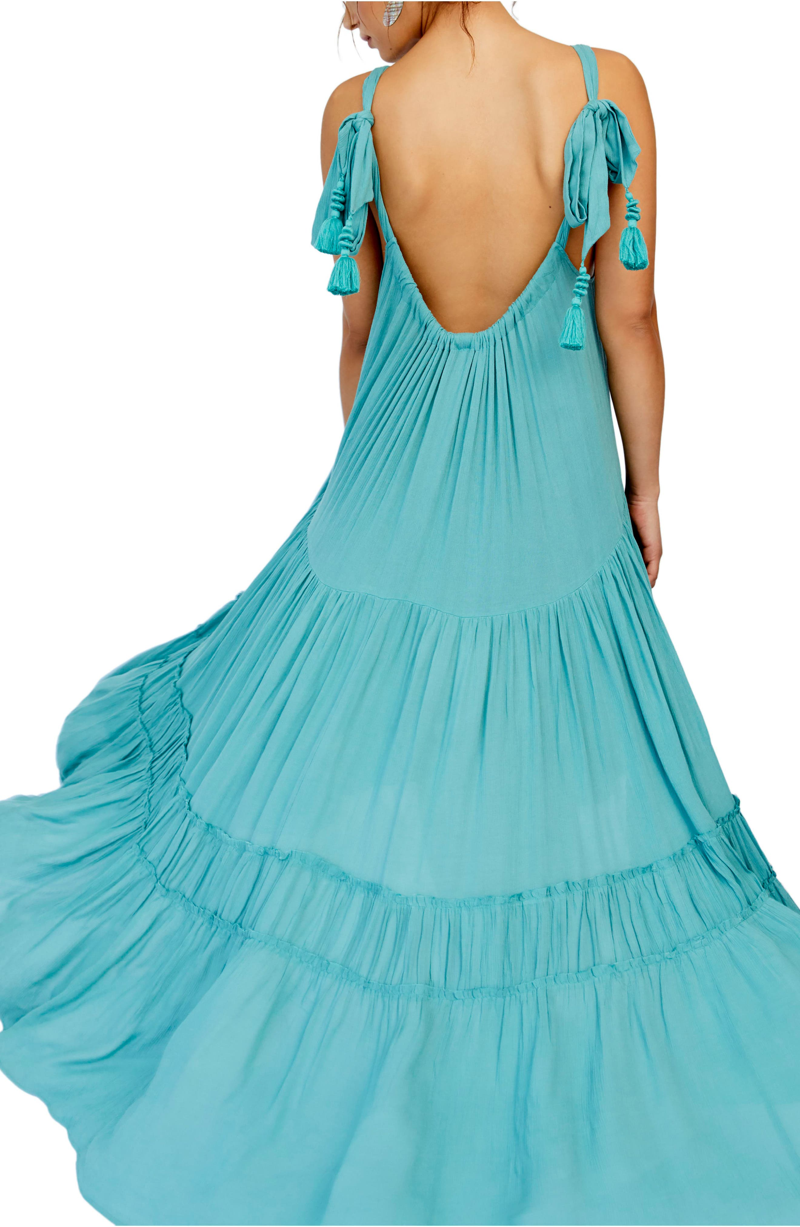 ,                             Endless Summer by Free People Bare It All Maxi Dress,                             Alternate thumbnail 2, color,                             BLUE