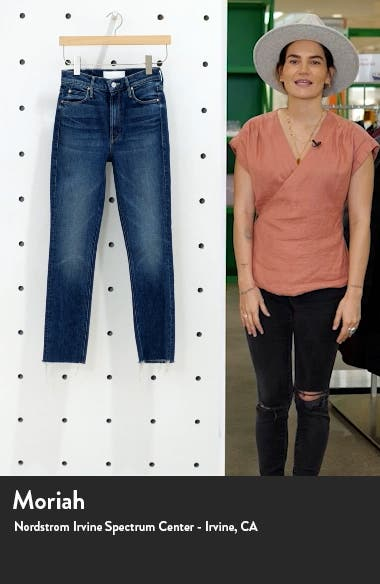 The Dazzler High Waist Frayed Ankle Skinny Jeans, sales video thumbnail