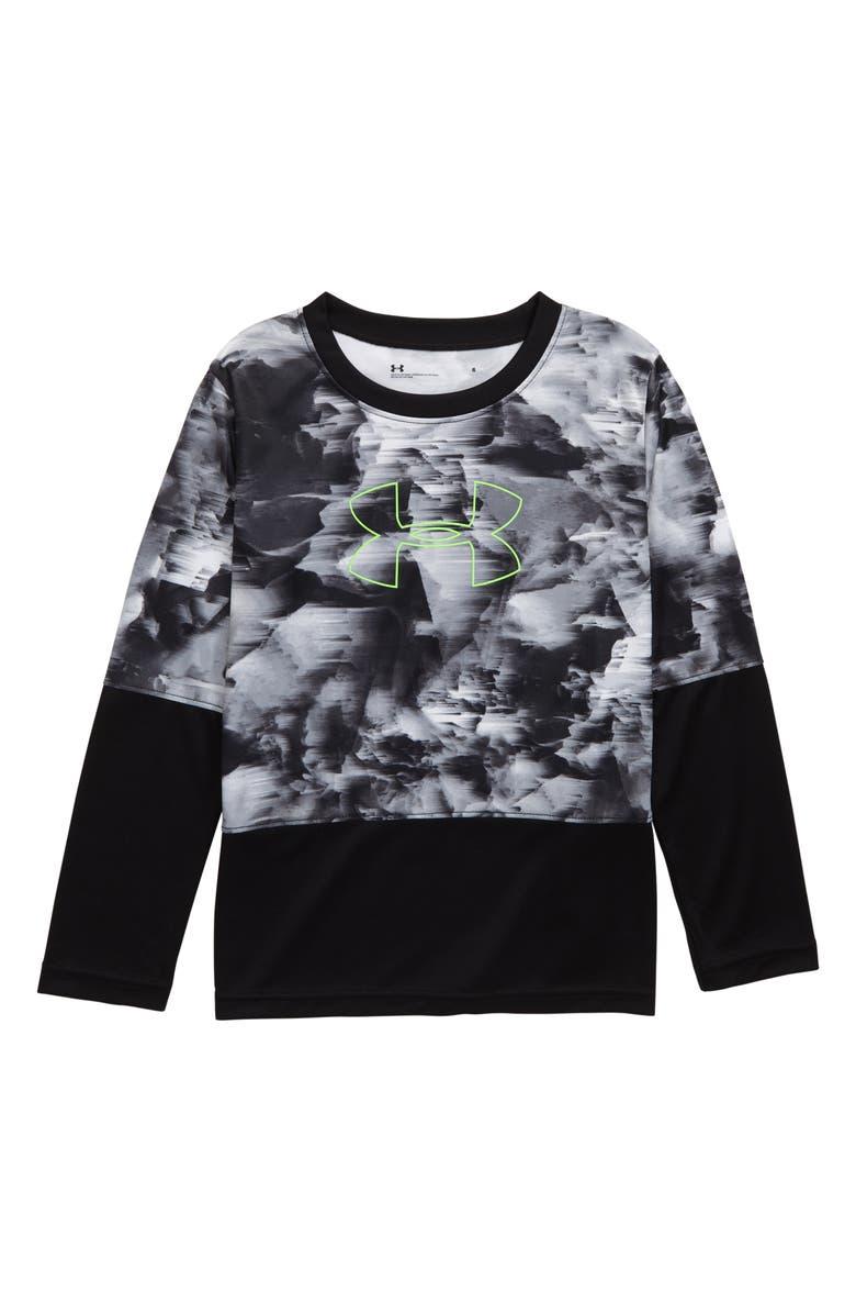 UNDER ARMOUR Windstream Long Sleeve Shirt, Main, color, BLACK WINDSTREAM