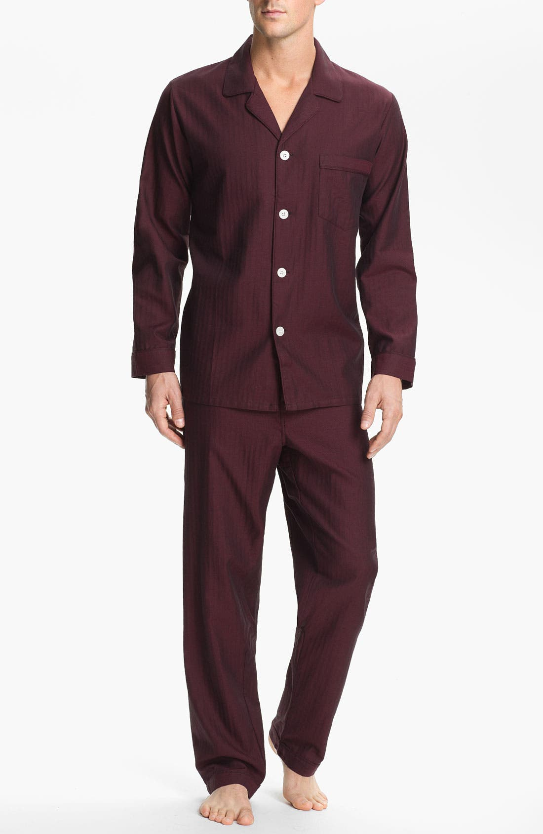 ,                             Herringbone Cotton Pajamas,                             Main thumbnail 16, color,                             605