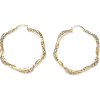 Vince Camuto Twisted Pave Large Hoop Earrings