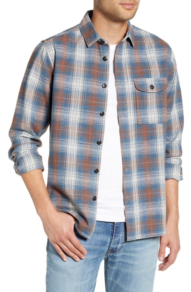 JEREMIAH Siegal Regular Fit Plaid Button-Up Shirt, Main, color, BLUEBIRD