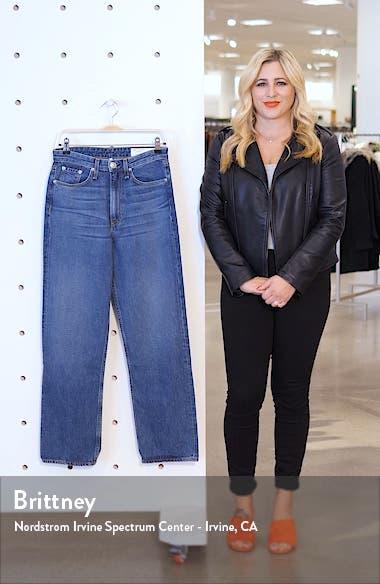 Ruth Super High Waist Straight Leg Jeans, sales video thumbnail