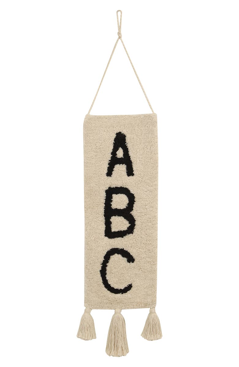 LORENA CANALS ABC Wall Hanging, Main, color, BEIGE
