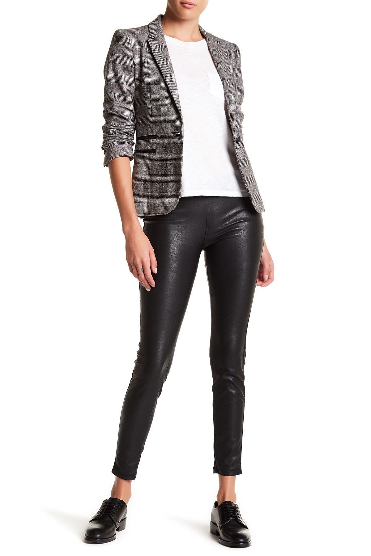 Image of BLANKNYC Denim Faux Leather Pull-On Leggings