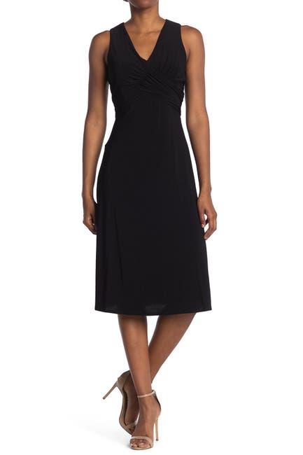 Image of TASH + SOPHIE Surplice Neck Midi Dress