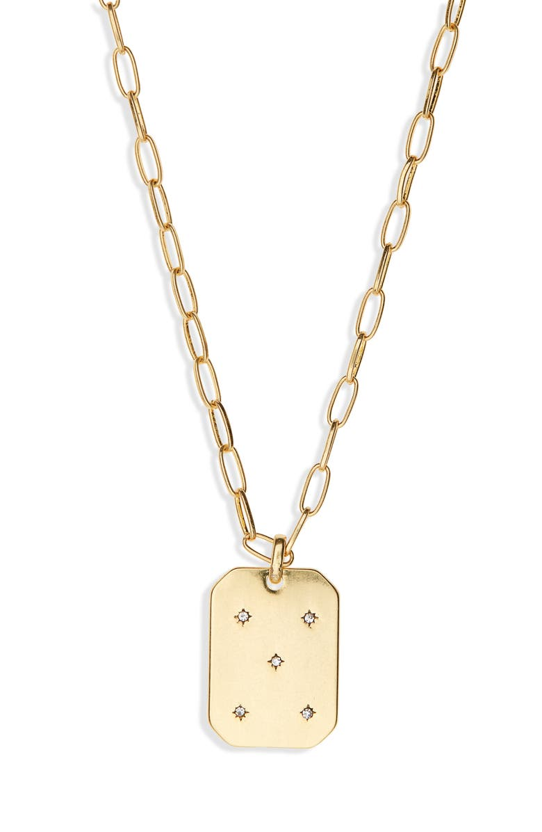 MADEWELL Twinkle Pavé Pendant Necklace, Main, color, VINTAGE GOLD