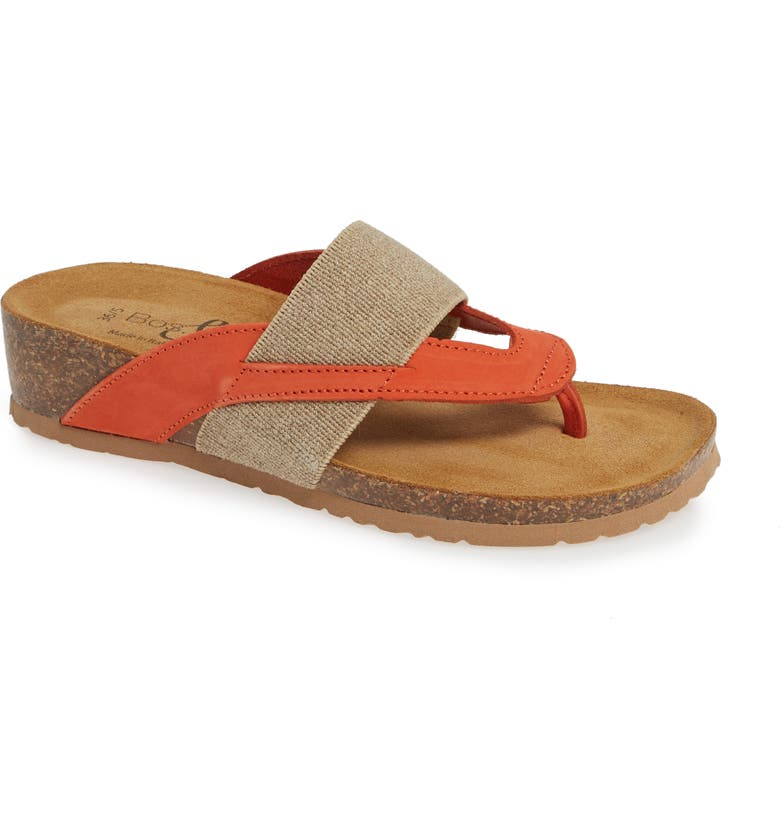 BOS. & CO. Lars Sandal, Main, color, CORAL NUBUCK LEATHER