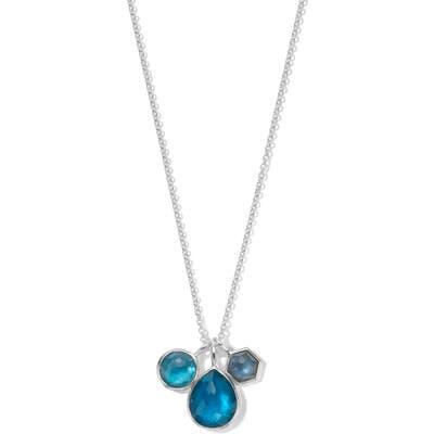 Ippolita Wonderland Triple Stone Charm Necklace