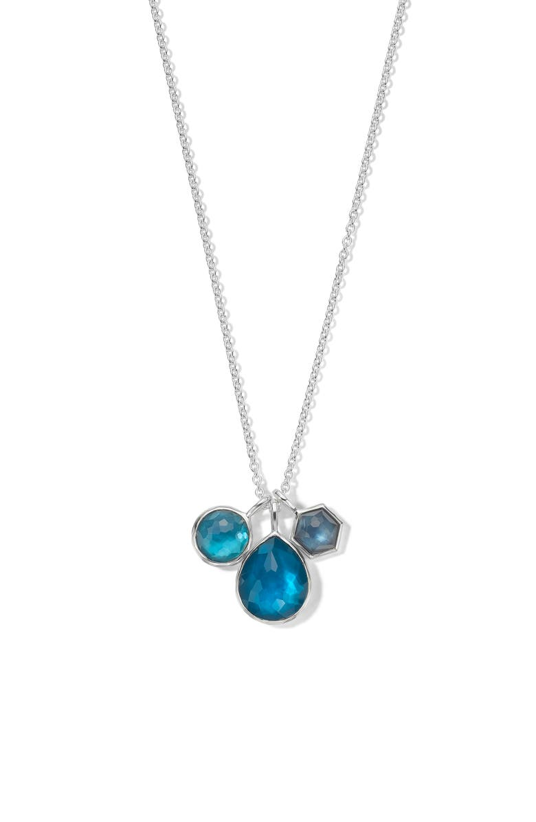 IPPOLITA Wonderland Triple Stone Charm Necklace, Main, color, BLUE MOON