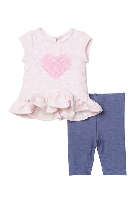 Image of Pastourelle by Pippa and Julie Embossed Heart Capri Set