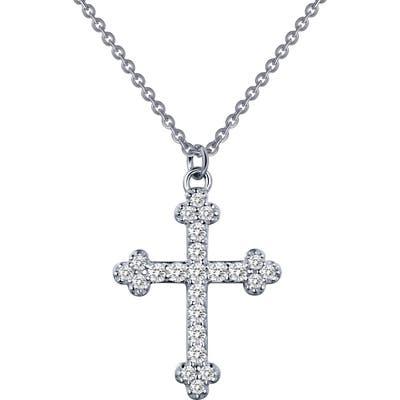 Lafonn Pave Simulated Diamond Cross Pendant Necklace
