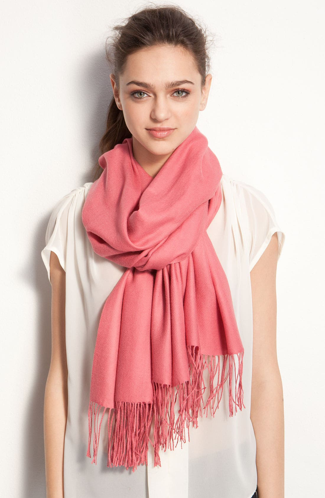 ,                             Tissue Weight Wool & Cashmere Wrap,                             Main thumbnail 172, color,                             649