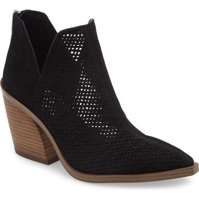 Vince Camuto Gibbela Woven Pointed Toe Bootie, Black