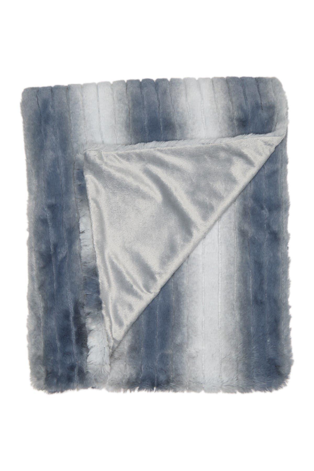Image of Nordstrom Stripe Faux Fur Throw