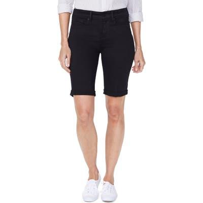 Nydj Briella Roll Cuff Bermuda Shorts, Black