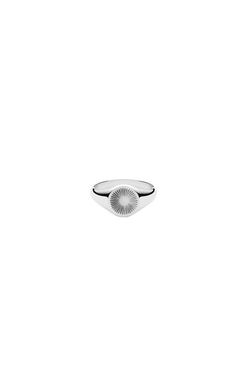 MIANSAI Solar Signet Ring, Main, color, SILVER/ WHITE SAPPHIRE