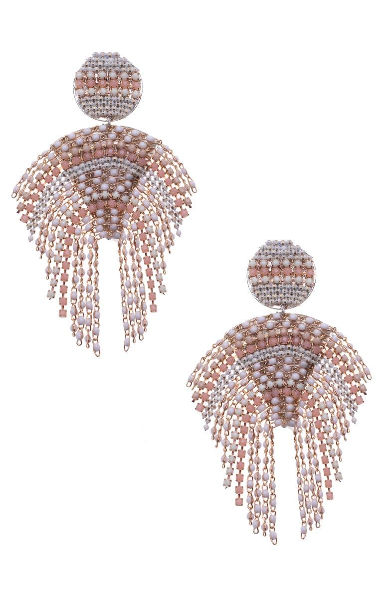 NAKAMOL DESIGN Beaded Statement Earrings, Main, color, 900