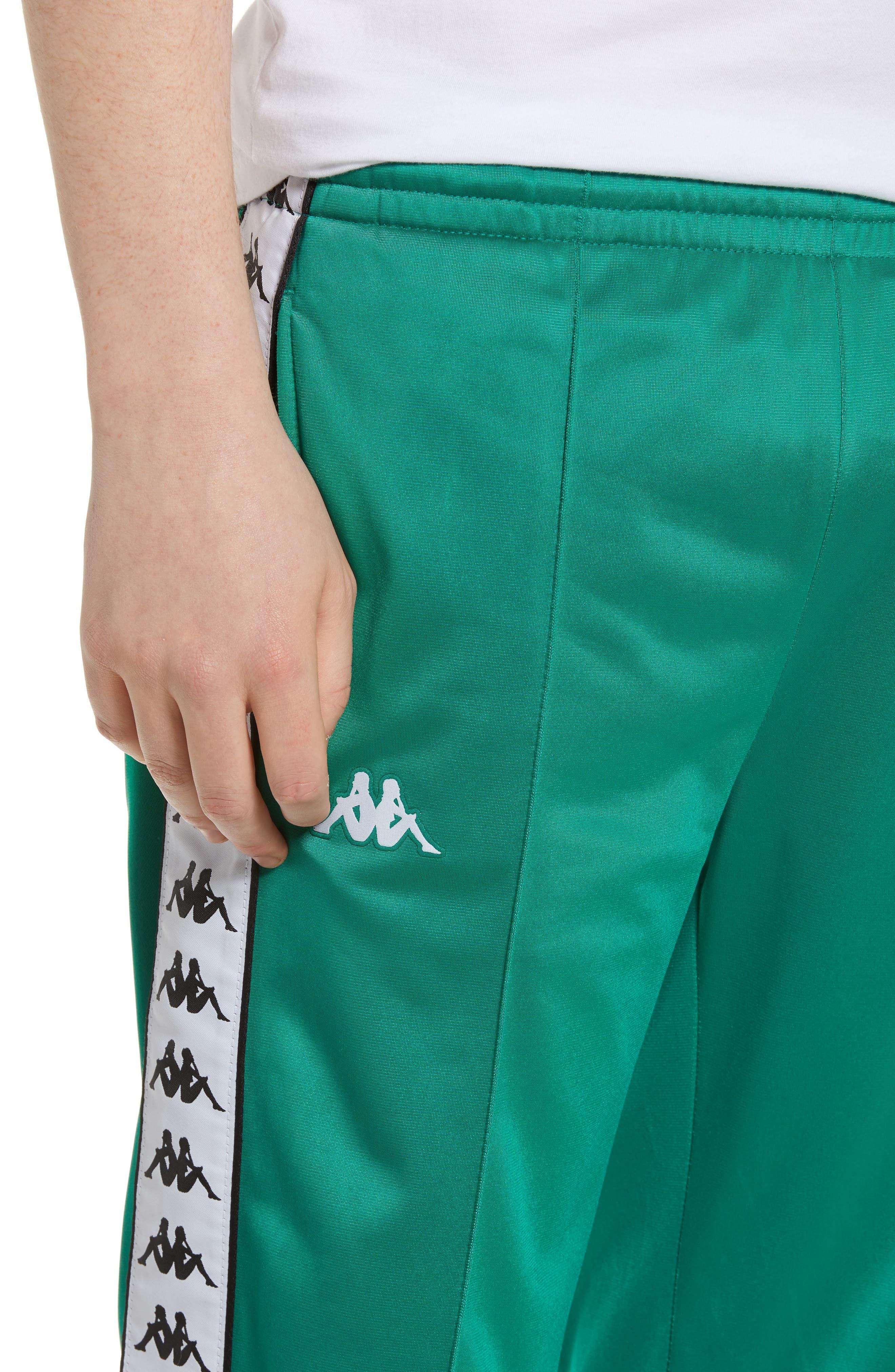 ,                             Active 222 Banda Astoriazz Slim Track Pants,                             Alternate thumbnail 5, color,                             GREEN/ BLACK/ WHITE