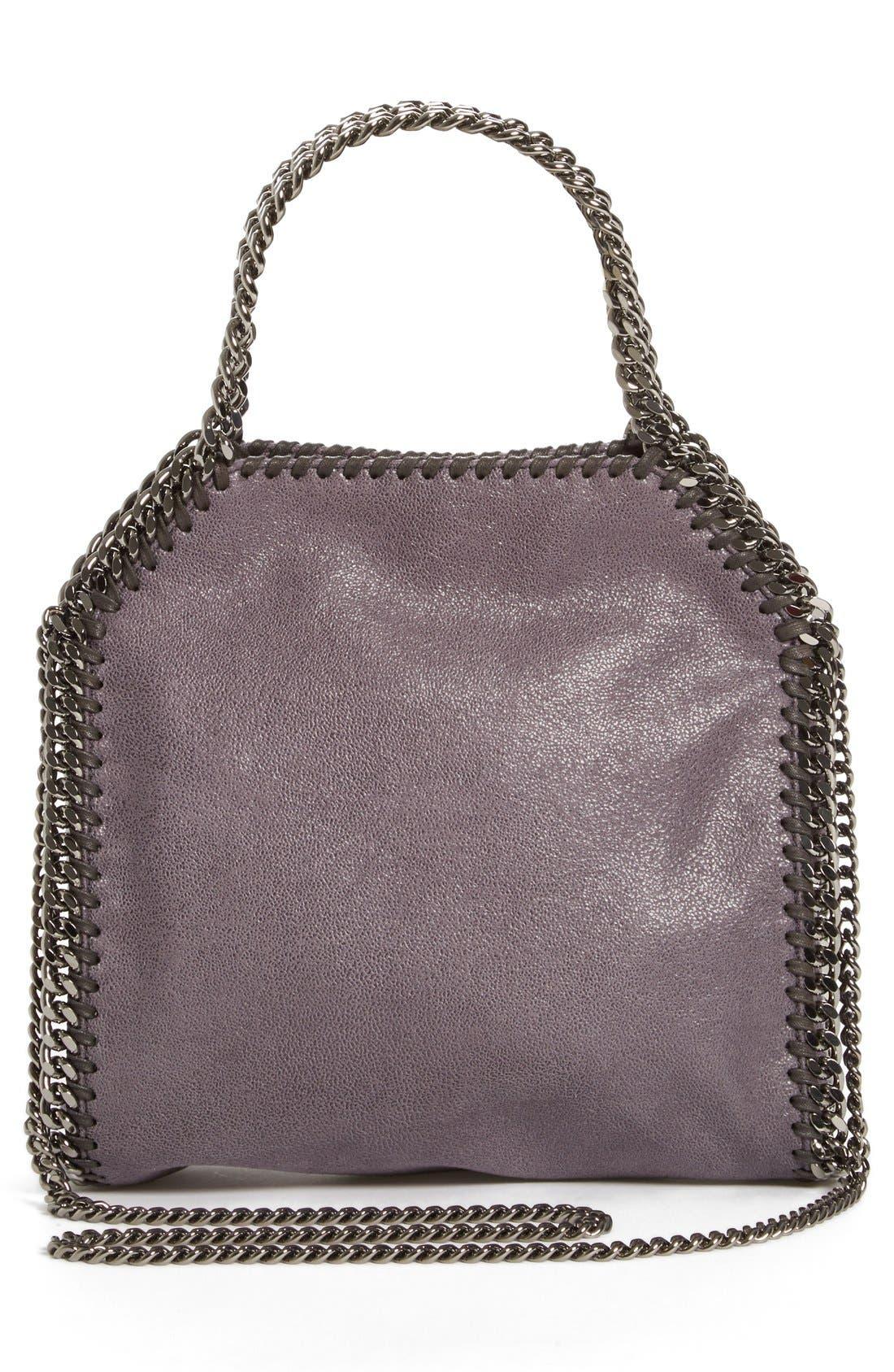 ,                             'Mini Falabella' Studded Faux Leather Star Tote,                             Alternate thumbnail 3, color,                             001