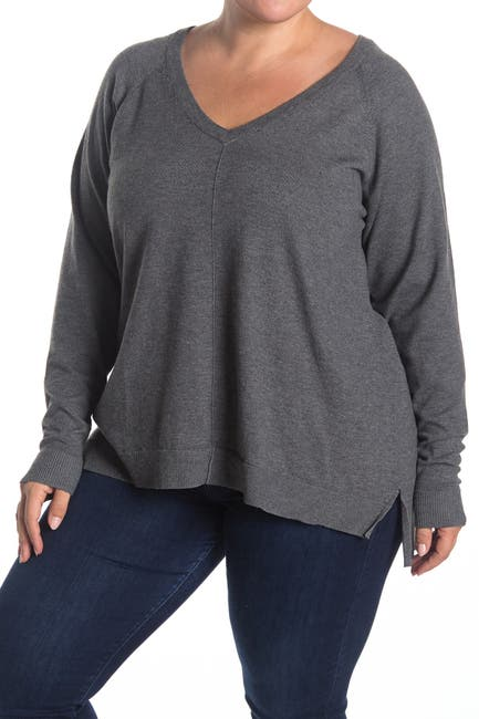 Image of Bobeau V-Neck Pullover Sweater