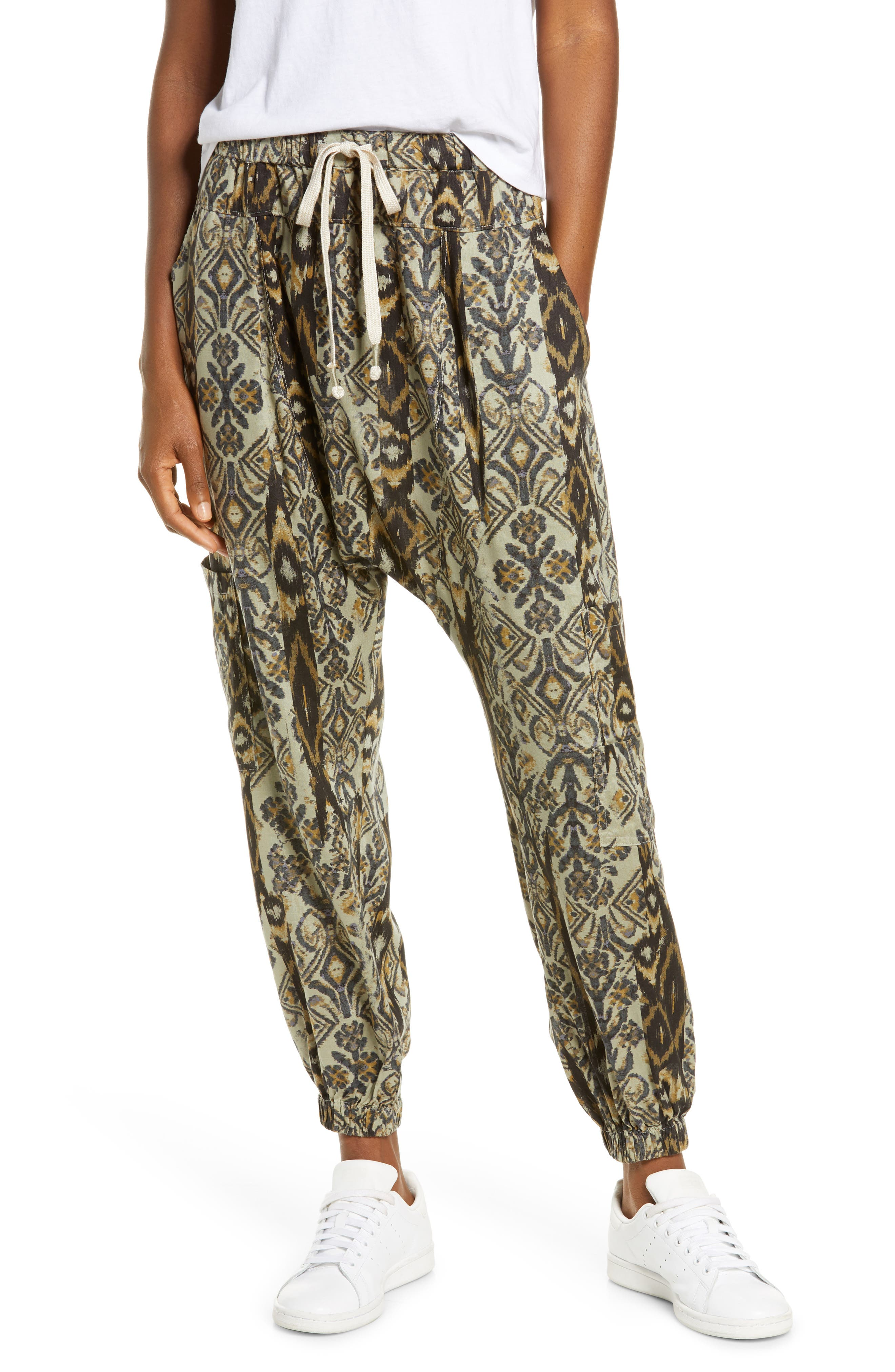 Image of Free People FP Movement Rise To The Sun Printed Harem Pants