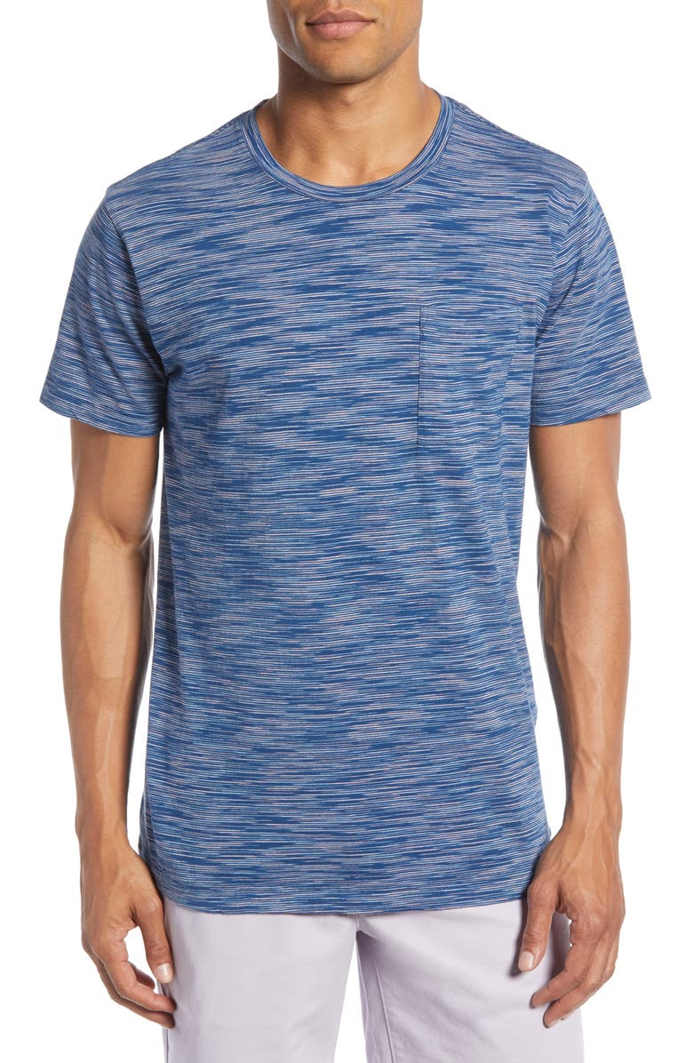 BONOBOS Space Dye Slim Fit Pocket T-Shirt, Main, color, 400