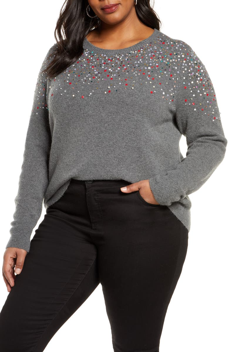 HALOGEN<SUP>®</SUP> Multicolor Sequin Sweater, Main, color, 030