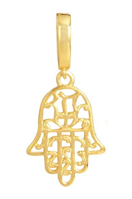 Image of Savvy Cie 18K Yellow Gold Vermeil Hamsa Charm