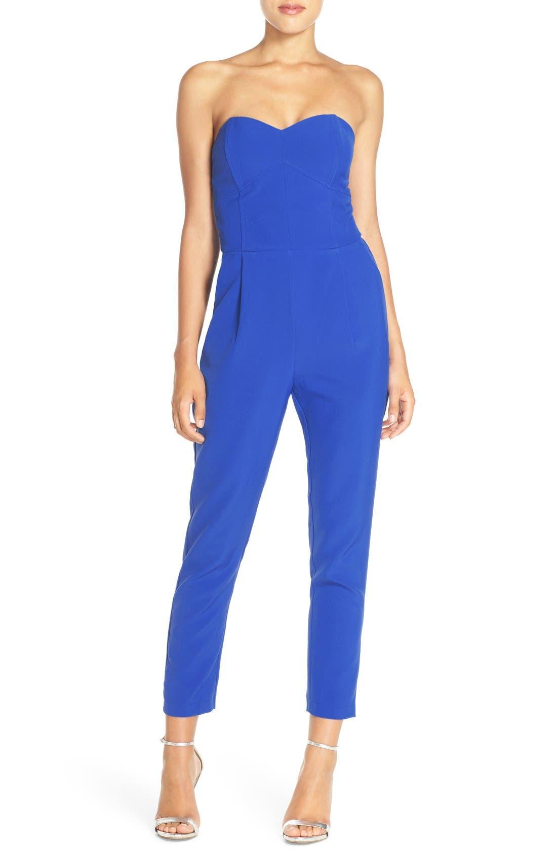 ,                             Strapless Slim Leg Jumpsuit,                             Main thumbnail 23, color,                             400