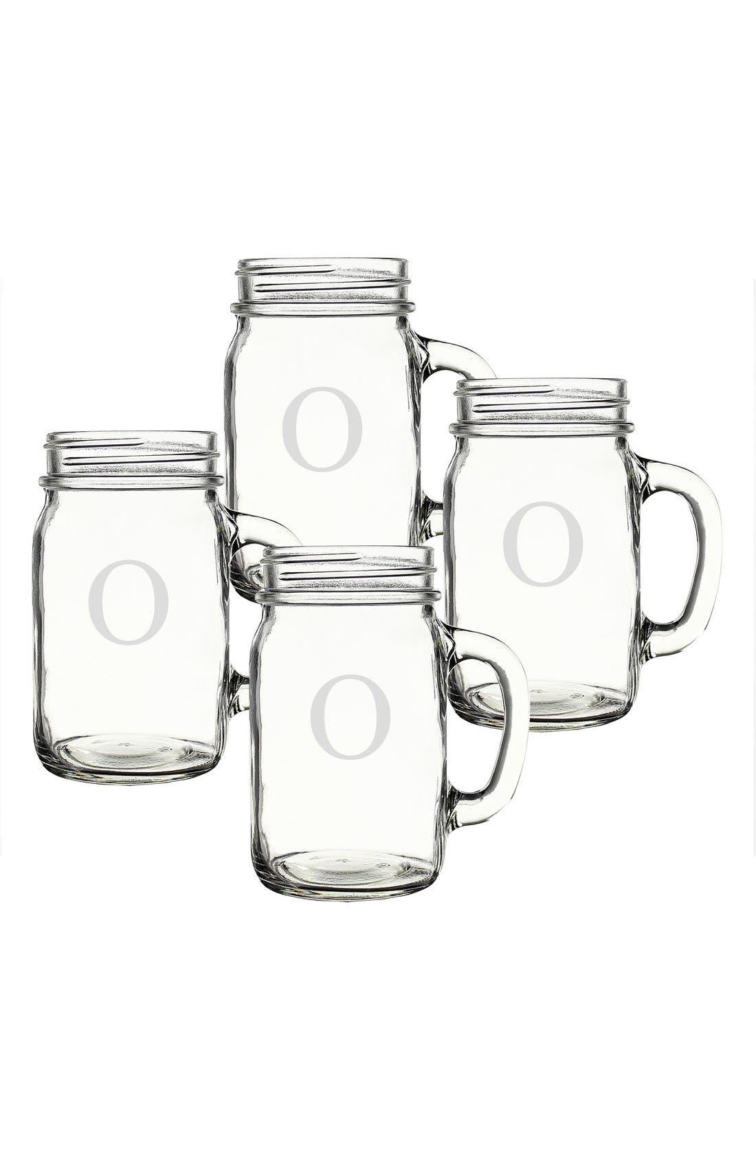 ,                             Monogram Glass Drinking Jars,                             Alternate thumbnail 48, color,                             974