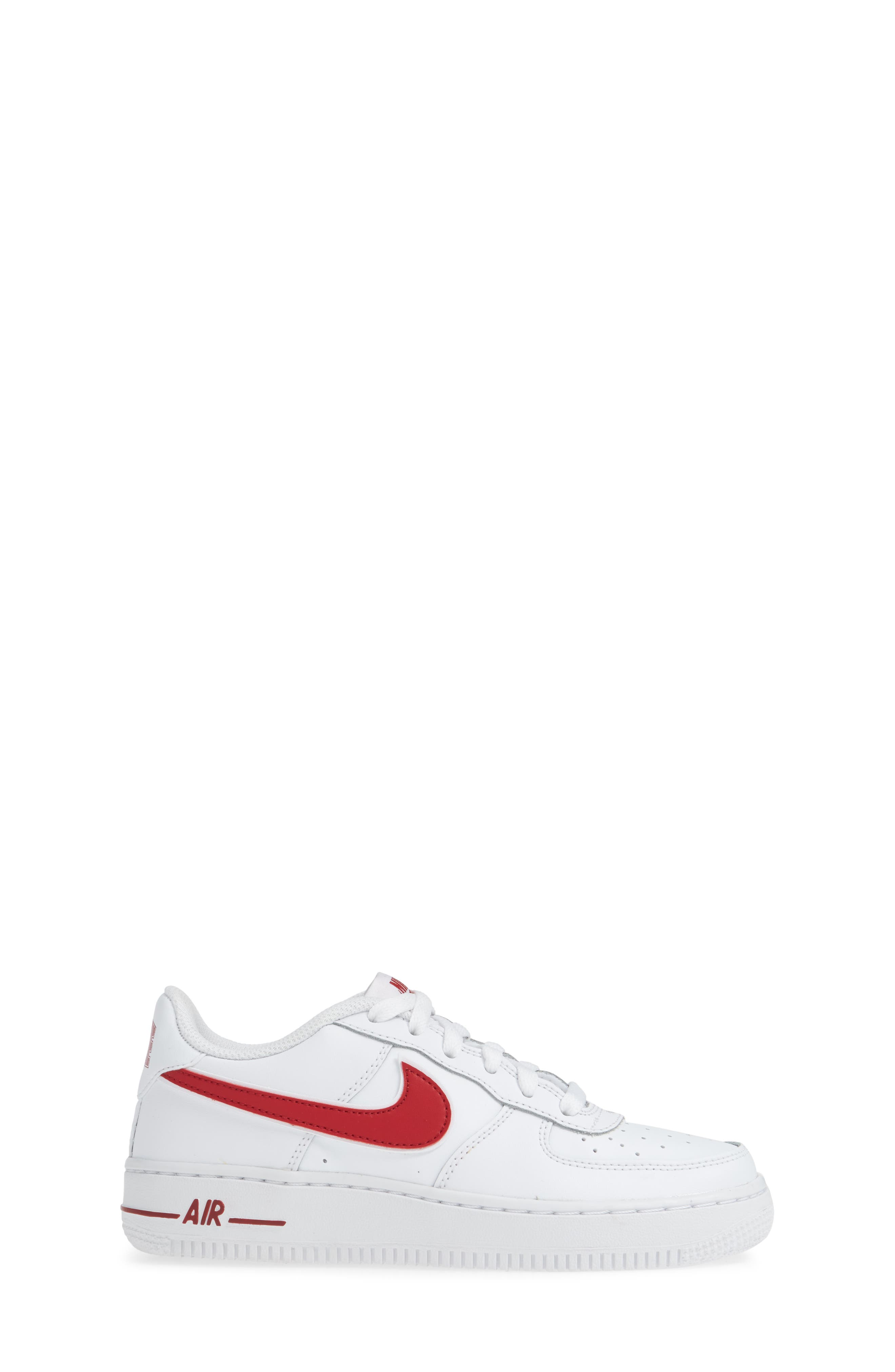 ,                             Air Force 1-3 Sneaker,                             Alternate thumbnail 3, color,                             WHITE/ GYM RED