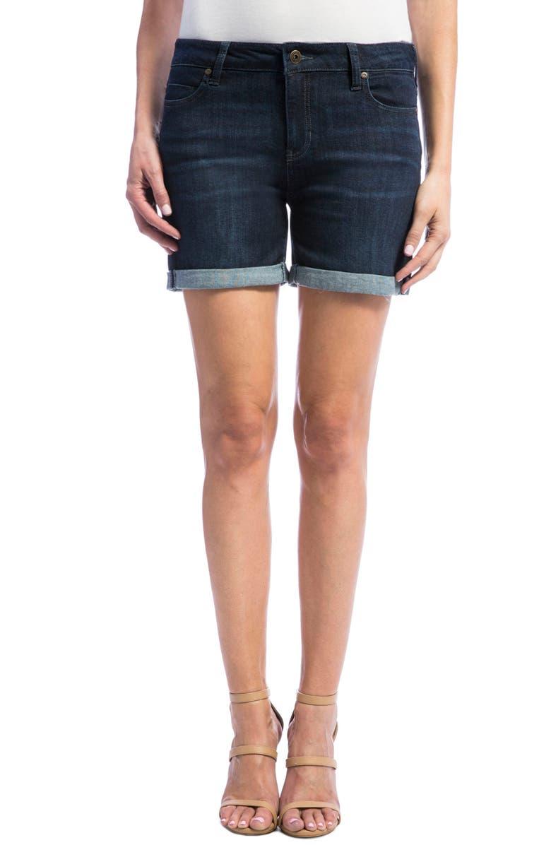 LIVERPOOL Vickie Denim Shorts, Main, color, 403